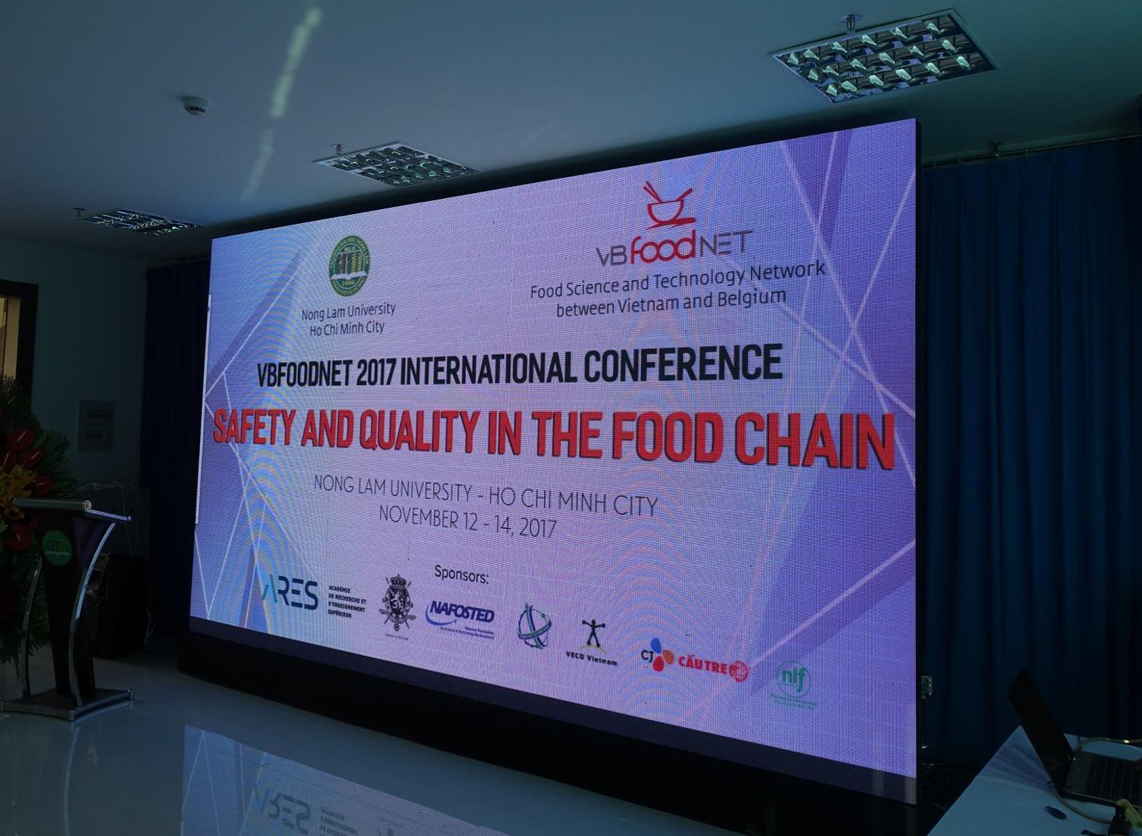 The 5th Conference of the Food Science and Technology Network between Vietnam and Belgium (VBFoodNET) took place on 13 and 14 November at Nong Lam University in Ho Chi Minh City (Photo: Rikolto)